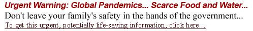 Urgent Warning: Global Pandemics... Scarce Food And Water...