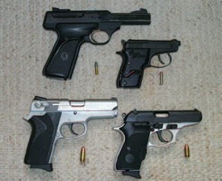 A progression of pistols during training