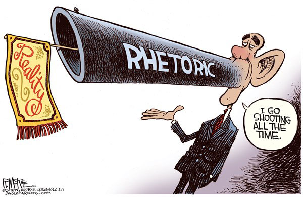 Rhetoric vs. Reality