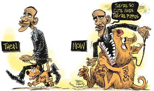 Obama and the Puppy Press