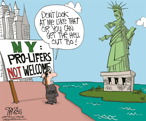 Cuomo Wants Pro-Lifers Out