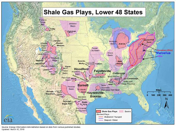 Shale Gas Plays, Lower 48 States