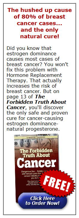 The hushed up cause of 80% of breast cancer cases... and the only natural cure!